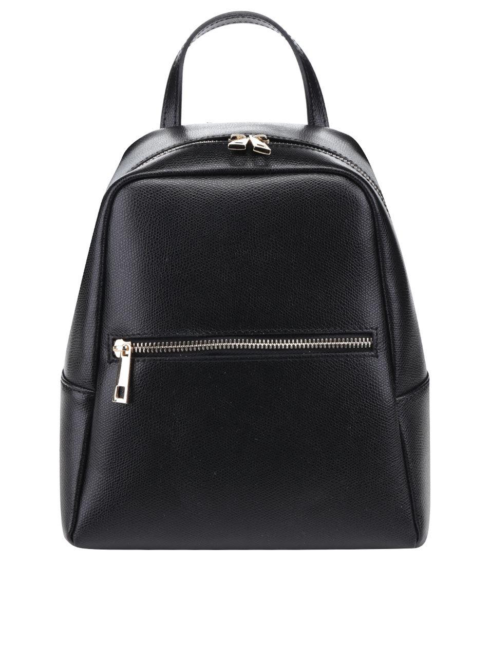 49085cb9324 Černý dámský kožený batoh ZOOT ...