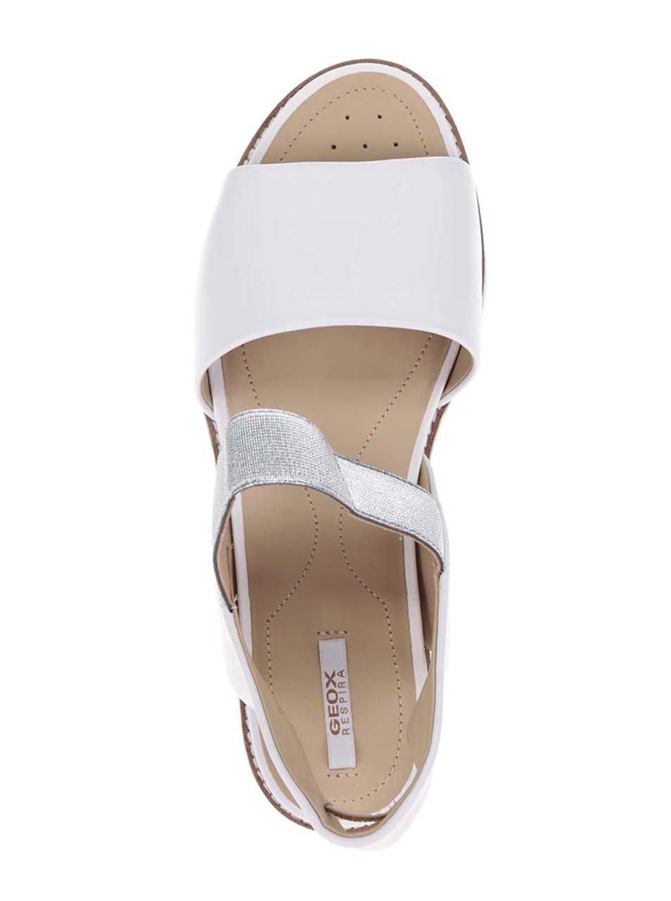 fee854da6445 Biele dámske kožené sandále Geox Darline ...