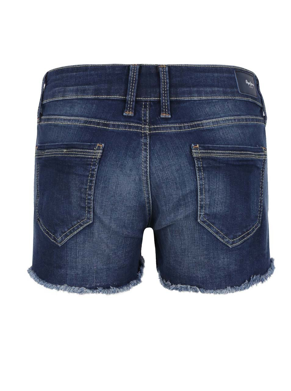 c3a20f7a046 Tmavomodré dámske rifľové krátke kraťasy Pepe Jeans Twigs ...