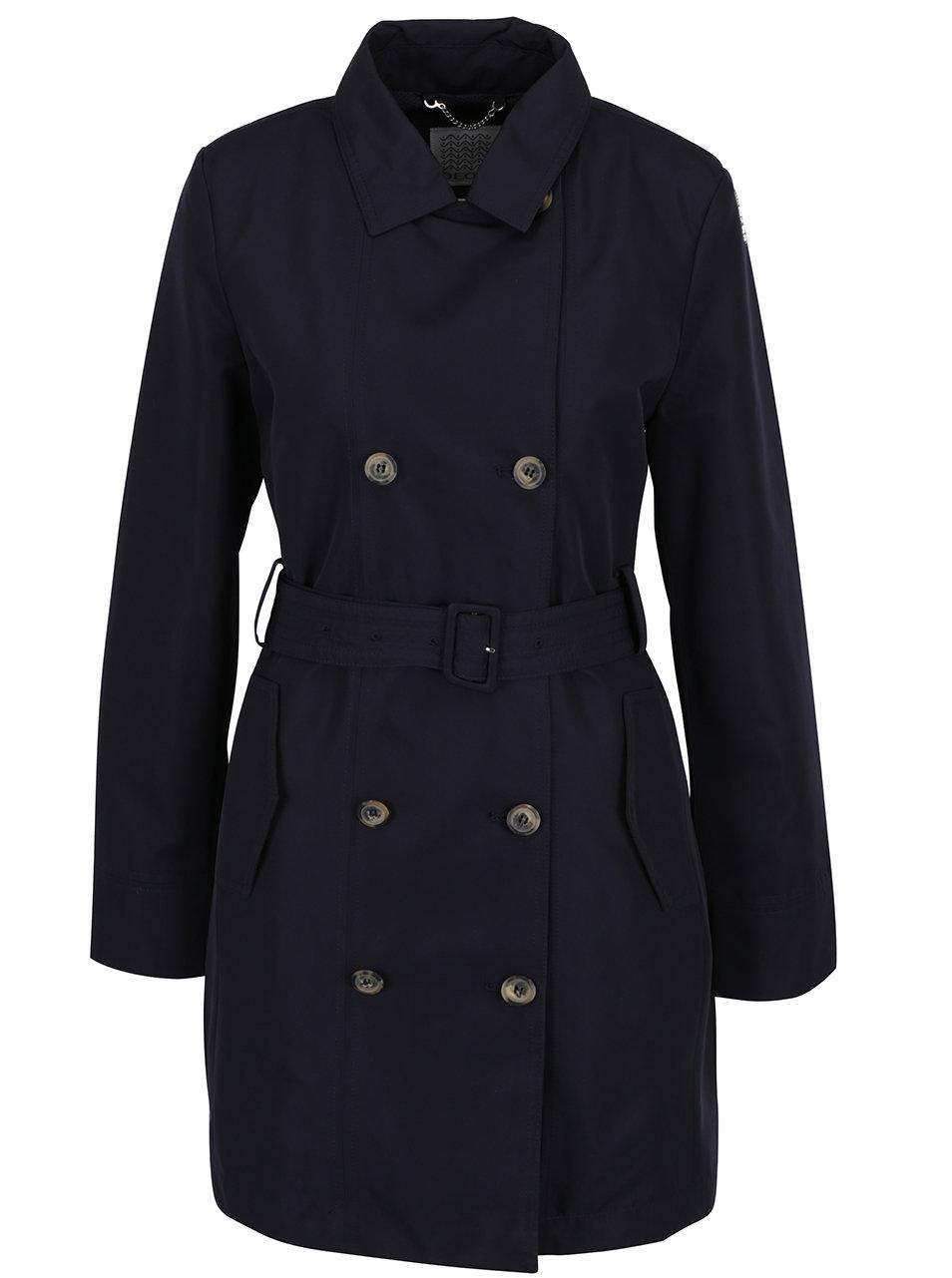 Tmavě modrý dámský kabát Geox ... d10072a1f3