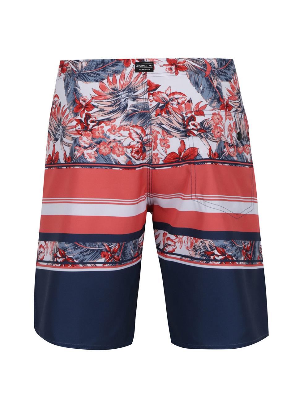 f0fdae6deae Modro-červené vzorované pánské plavky O Neill ...