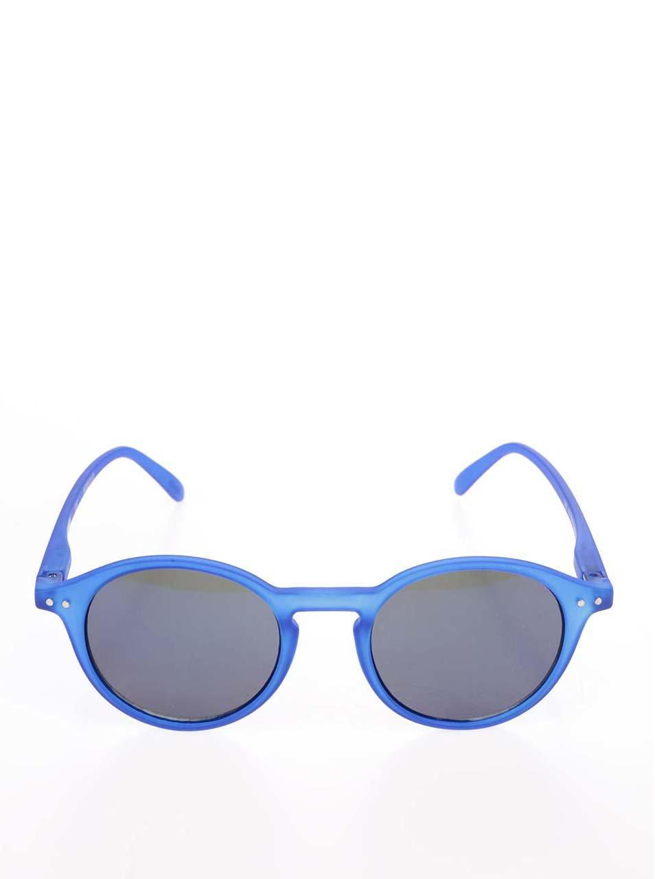 bc6473922 Modré unisex slnečné okuliare so zrkadlovými modrými sklami IZIPIZI #D ...