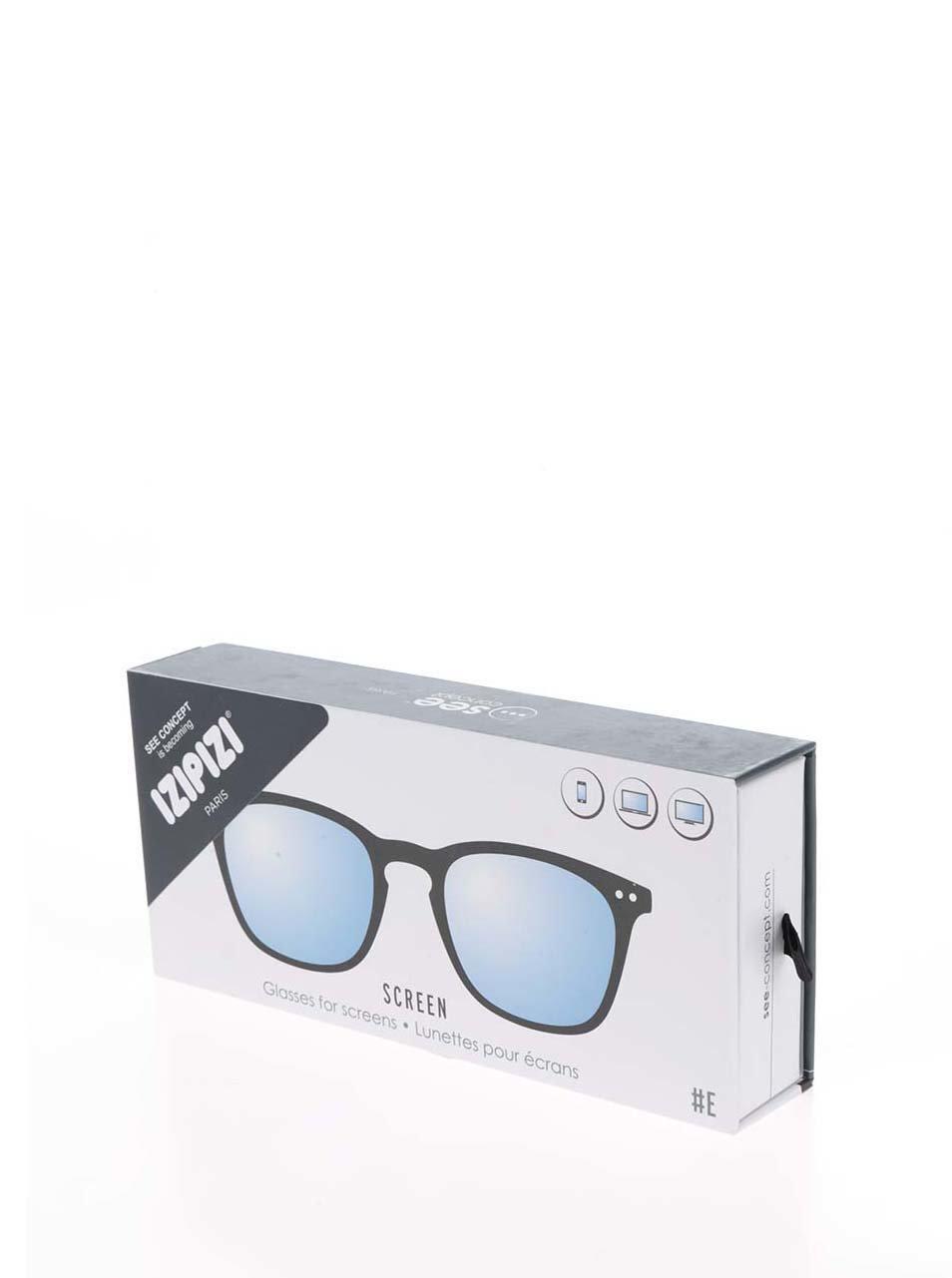 Čierne unisex ochranné okuliare k PC IZIPIZI  E ... 0f7bf4ee95a