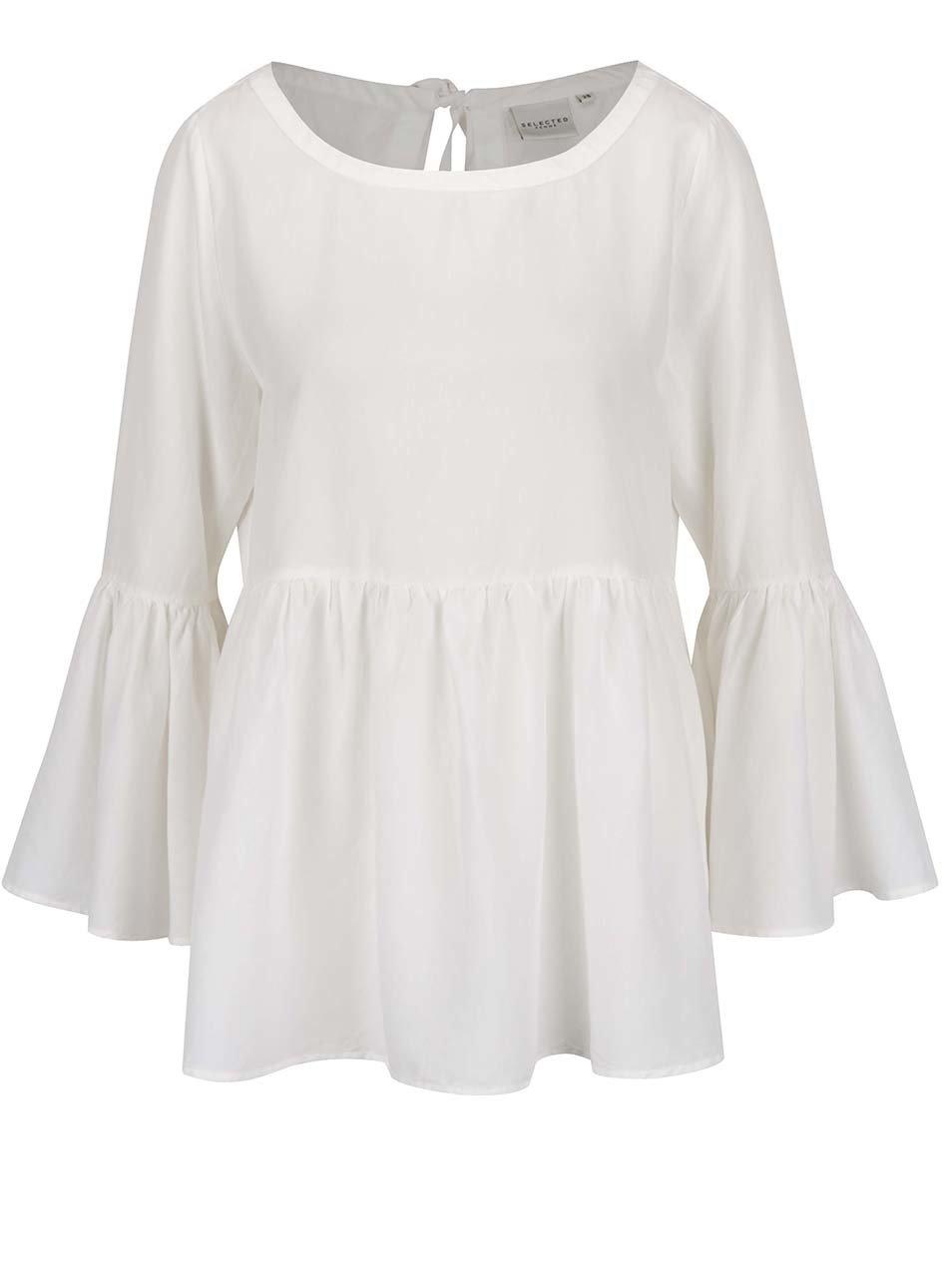 Bílá halenka s dlouhým rukávem Selected Femme Kria ... 266f8cea22