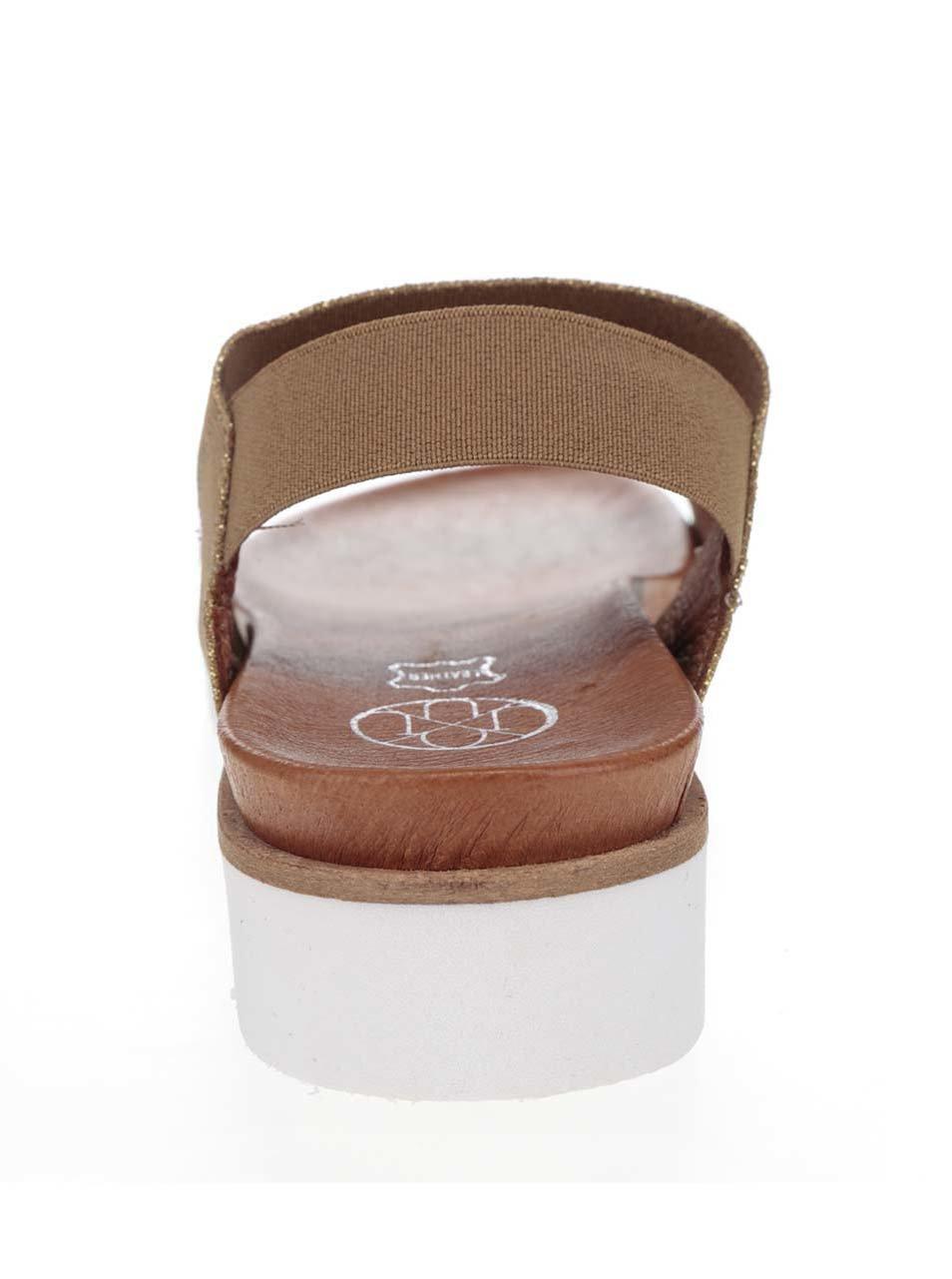 ad20bcd8dc23 Dámske sandále v zlato-hnedej farbe OJJU ...
