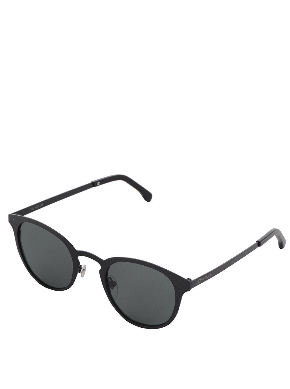Čierne unisex slnečné okuliare s kovovým rámom Komono Hollis ... 885348995c2