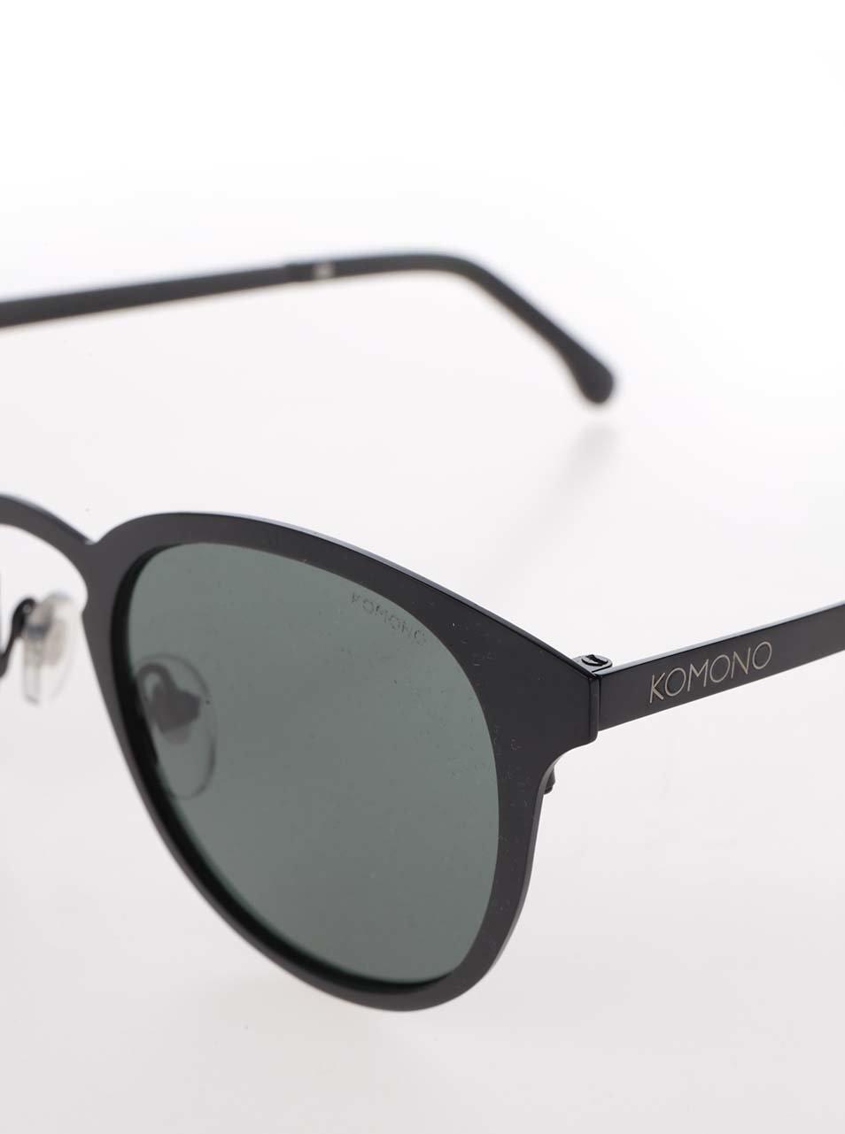 Čierne unisex slnečné okuliare s kovovým rámom Komono Hollis ... f7928aff709