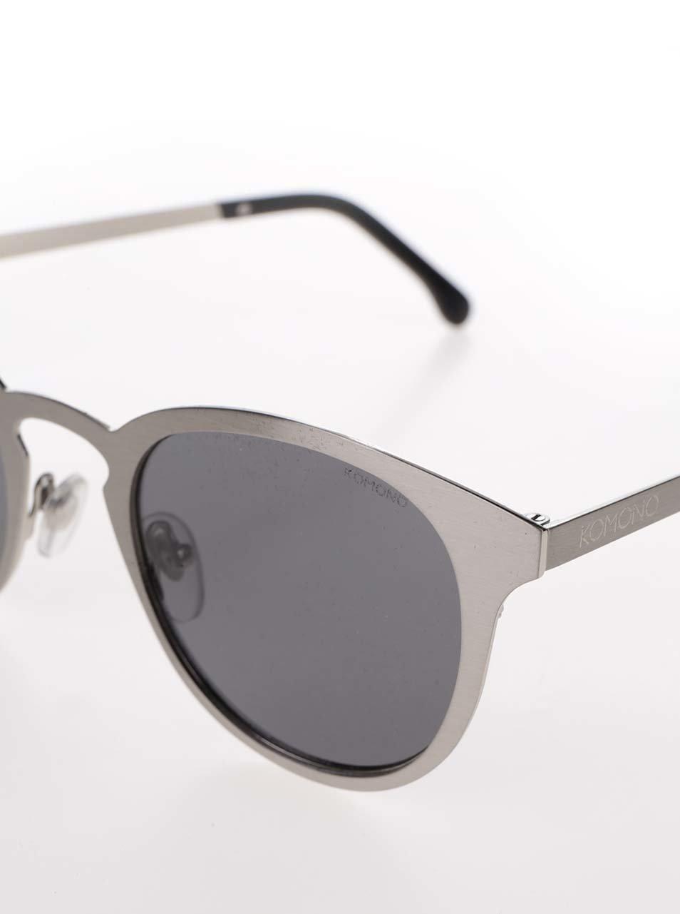 Sivé unisex slnečné okuliare s kovovým remienkom Komono Hollis ... 31ee4d89d15