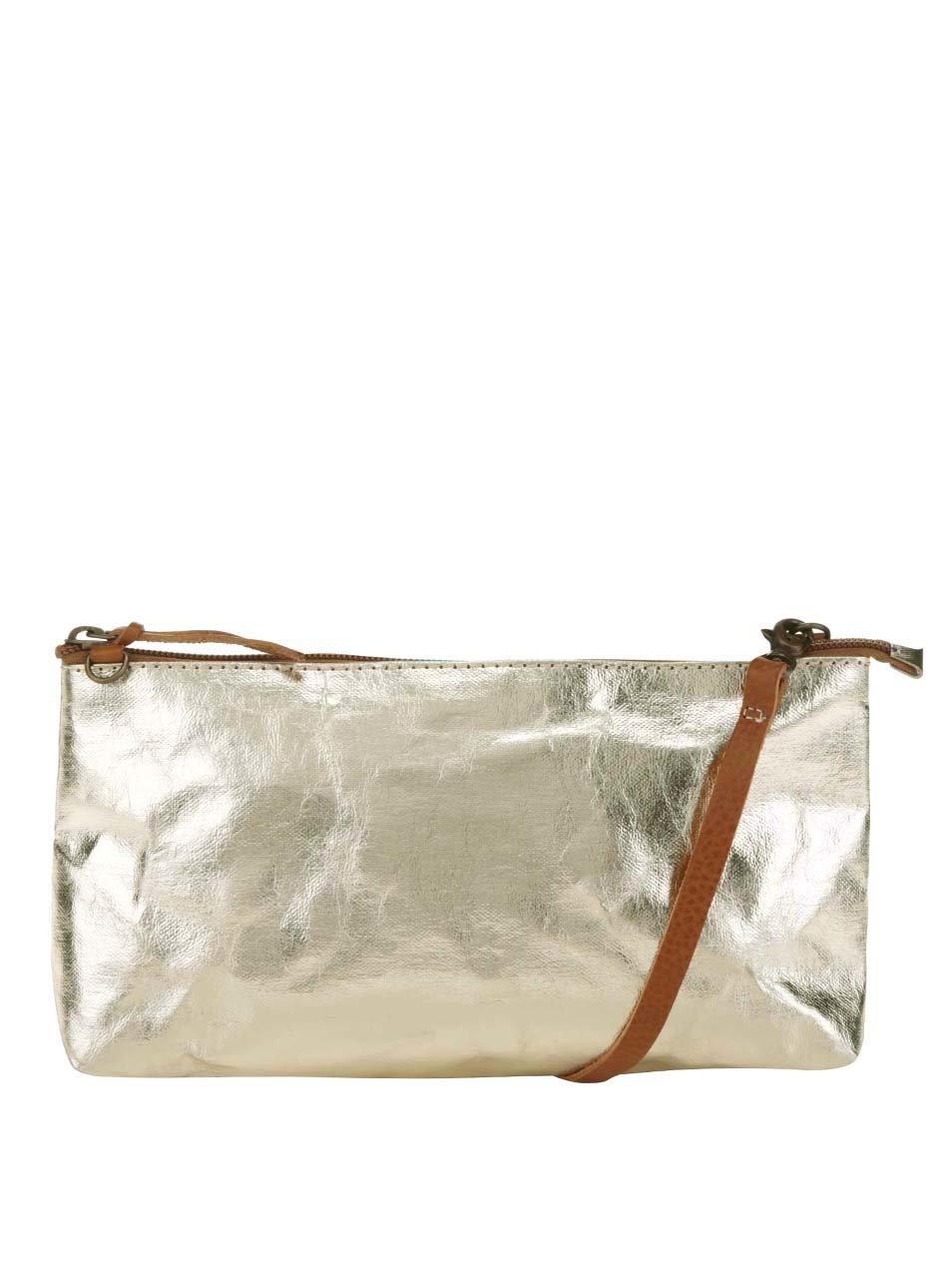 9e9850f748 Crossbody kabelka lístoček v zlatej farbe UASHMAMA® La Busta ...