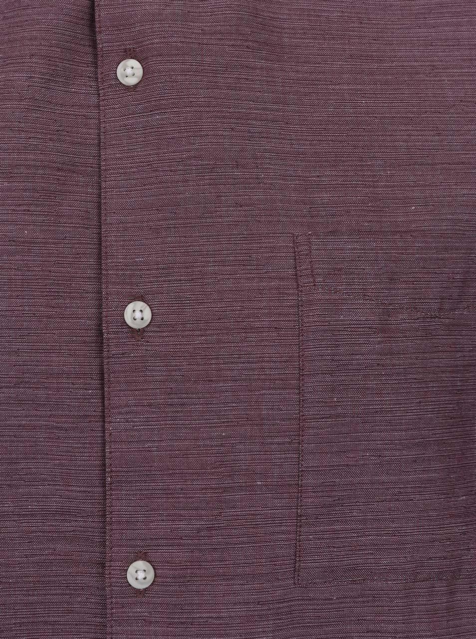 f1b983d60ca Vínová žíhaná košile bez límečku Burton Menswear London - Akční cena ...