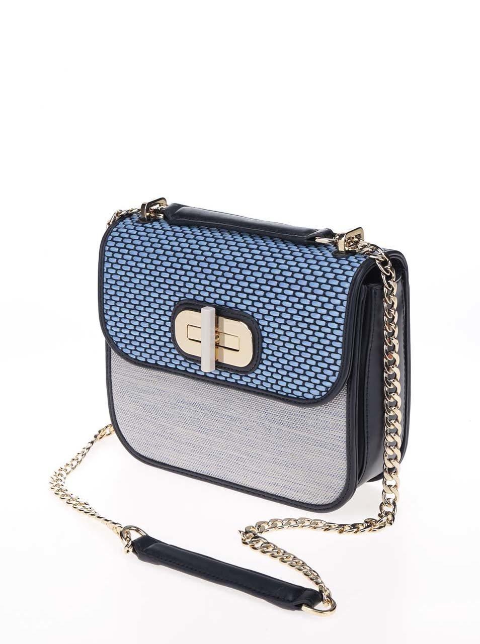 Modrá crossbody kabelka s detaily ve zlaté barvě Tommy Hilfiger ... c8678d82955
