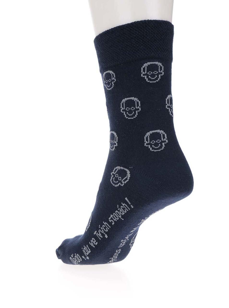 """""""Dobrý"""" set ponožek, motýlka a kšand v modré barvě pro Krásu pomoci"""