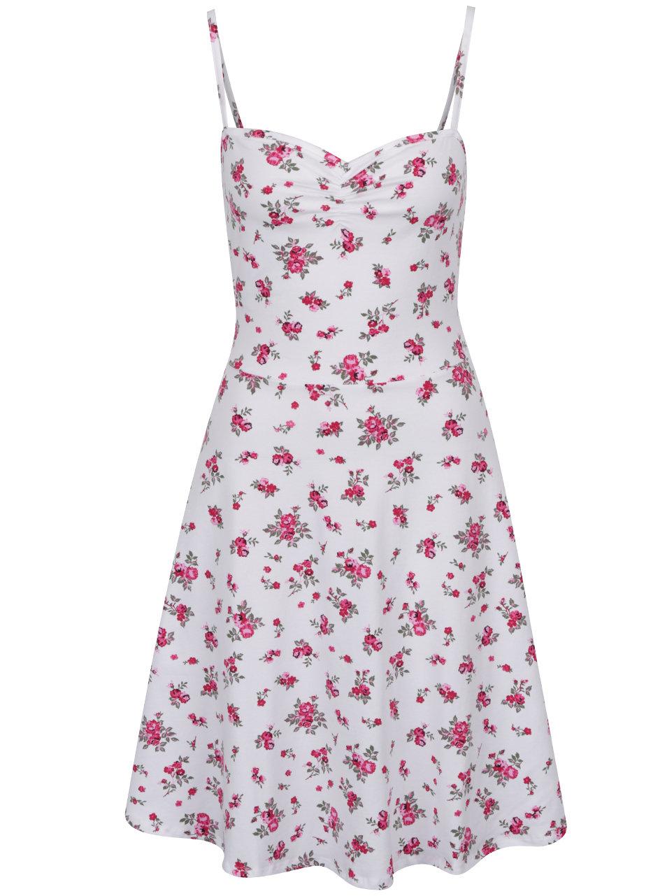 Biele kvetované šaty na ramienka Dorothy Perkins Tall ... 1198658c6de