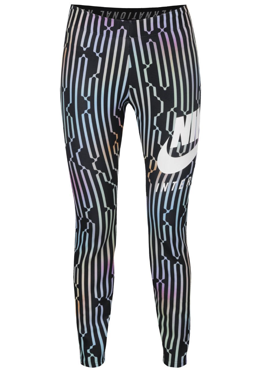Černé vzorované dámské legíny Nike ... 5c8322926c