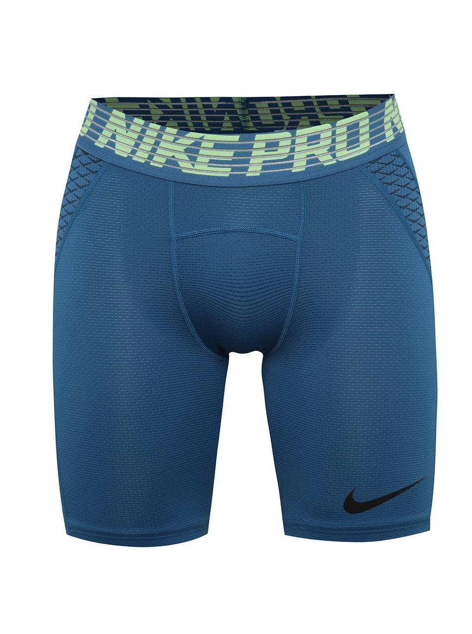Modré pánské funkční kraťasy Nike Pro HyperCool ... 034fb3f7f7