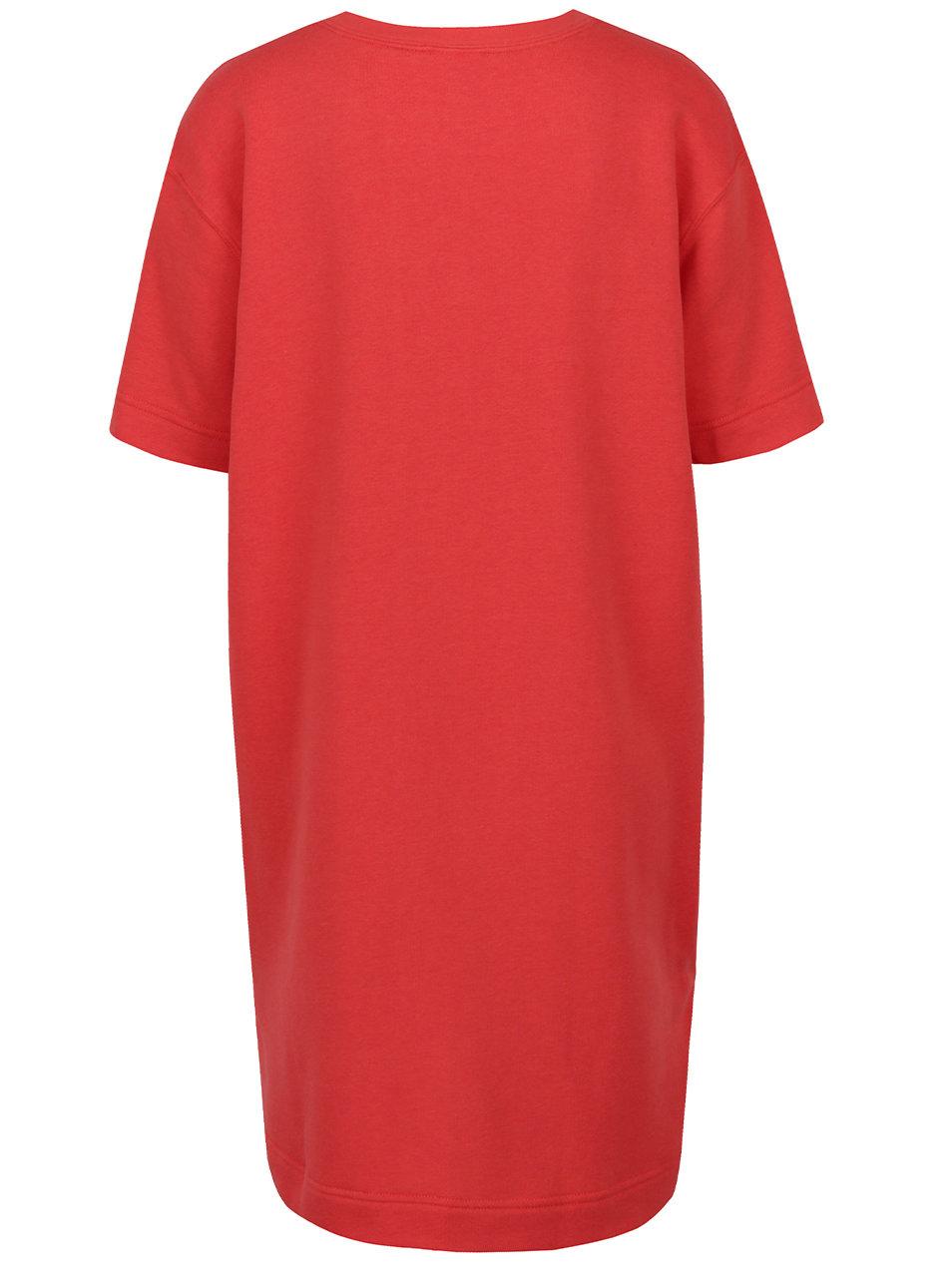 b74642fcd472 Červené dámske oversize športové šaty s krátkym rukávom Nike ...