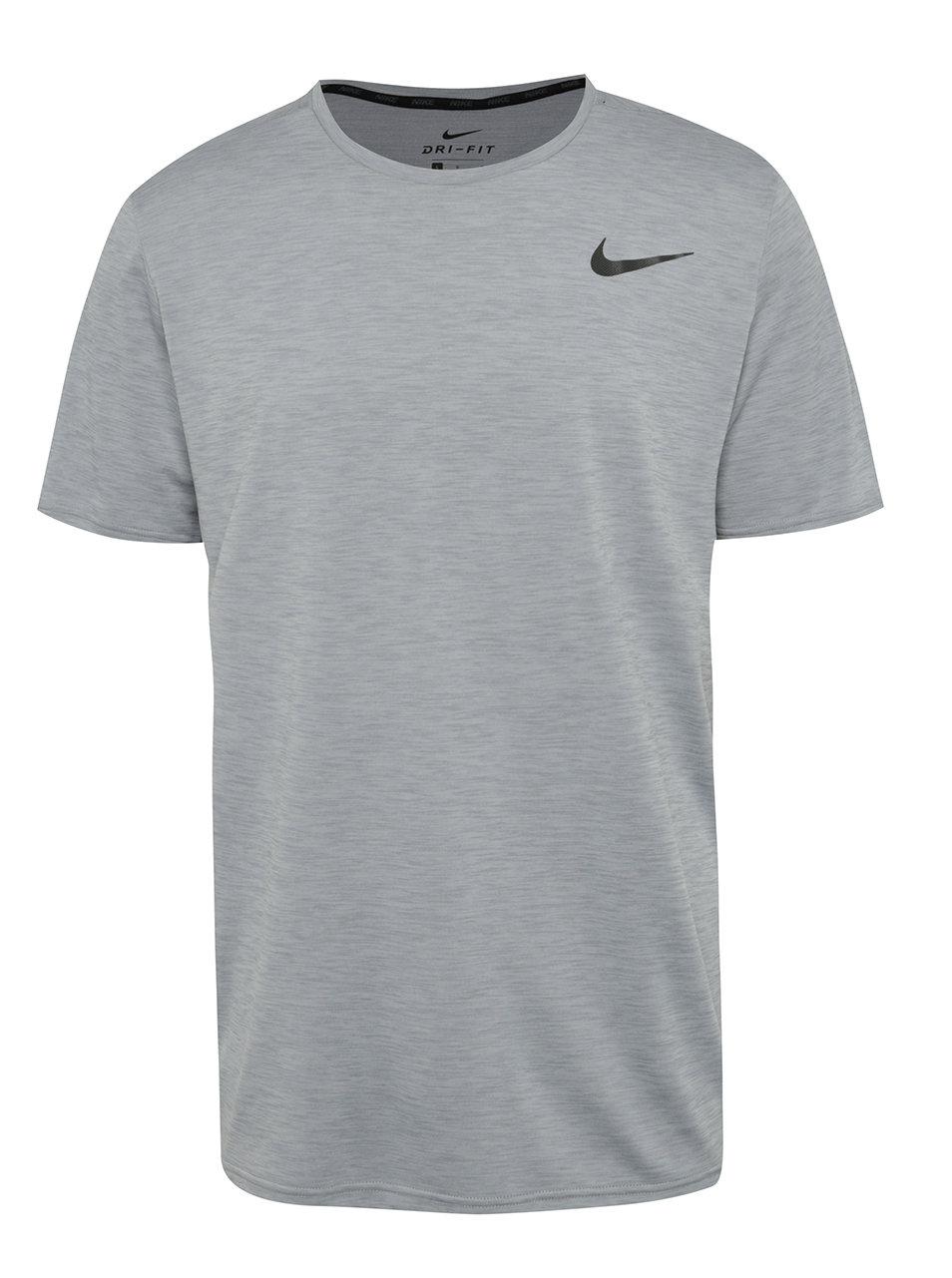 547d523e5b76 Svetlosivé melírované pánske funkčné tričko Nike Breathe ...