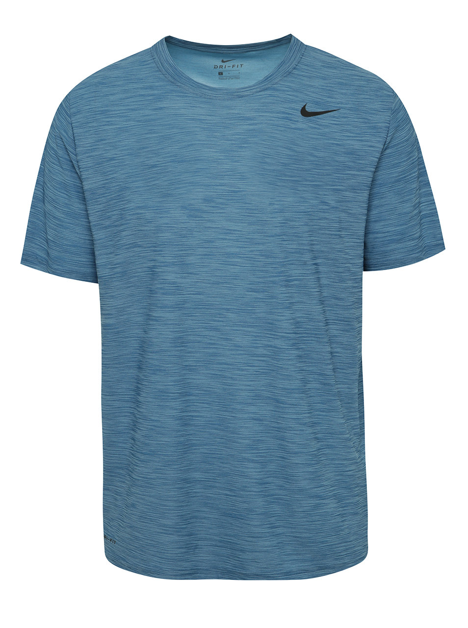 Modré melírované pánske funkčné tričko Nike Breathe ... e426d6e1e94