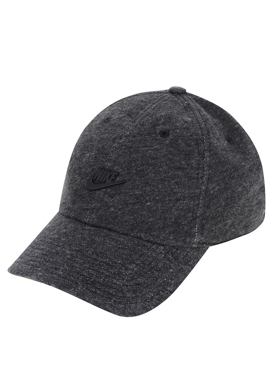 Černá žíhaná pánská kšiltovka Nike ... 2c86f15186
