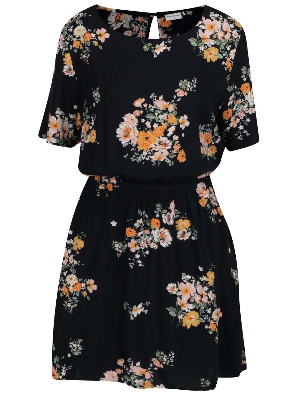 01d954dd88 Tmavomodré kvetované voľné šaty Jacqueline de Yong Kayleigh ...