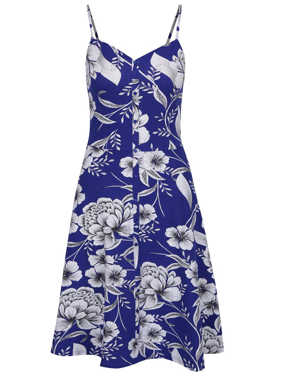 Modré květované šaty na tenká ramínka Dorothy Perkins Tall ... 1aa60759bd