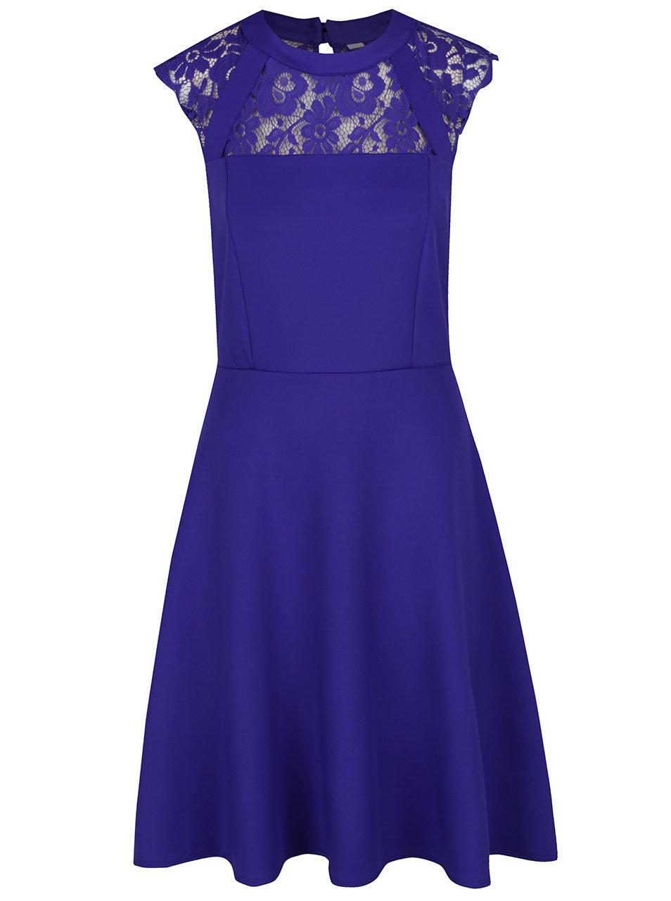 e7c0ed59adb6 Modré šaty s čipkovaným sedlom Dorothy Perkins Tall ...