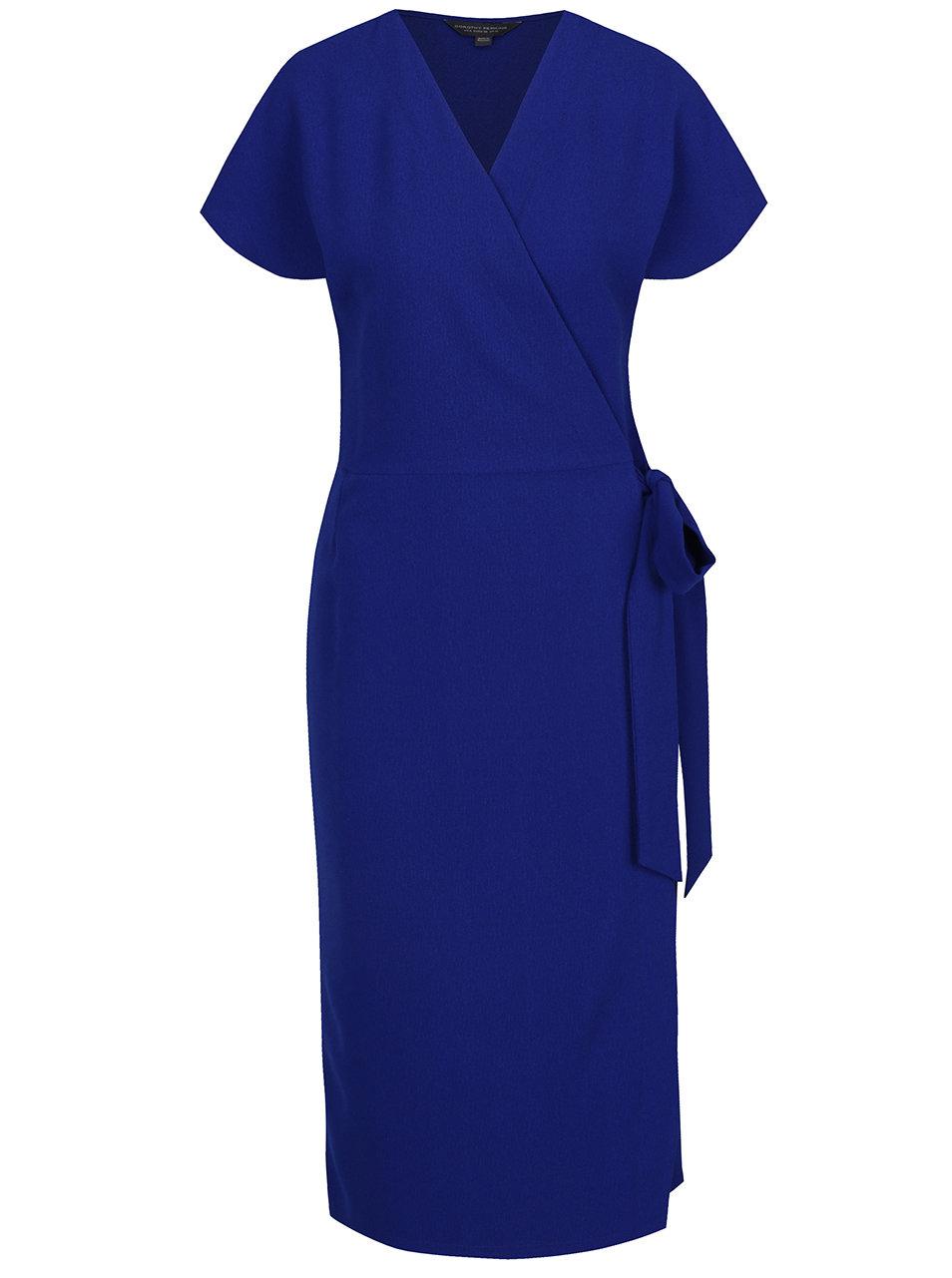 b78188cbd09e Modré zavinovacie šaty Dorothy Perkins Tall ...