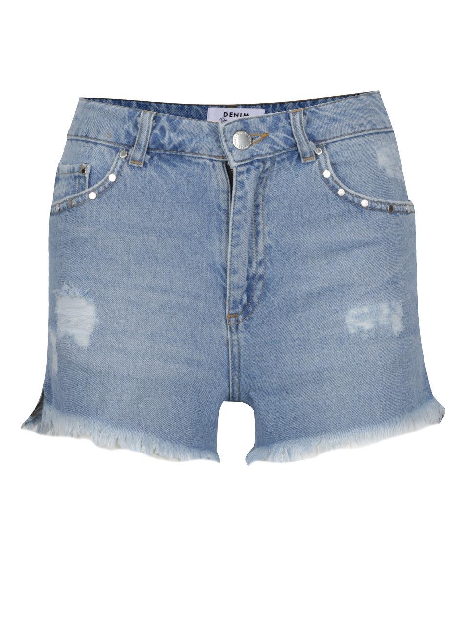 Světle modré džínové kraťasy Miss Selfridge ... ce6a07ccd7