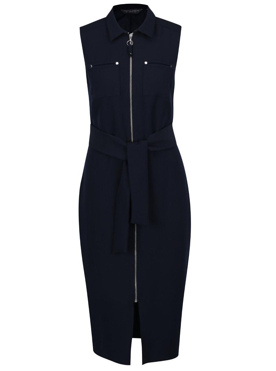 Tmavě modré pouzdrové šaty se zipem Dorothy Perkins Tall ... d25aefdaf6
