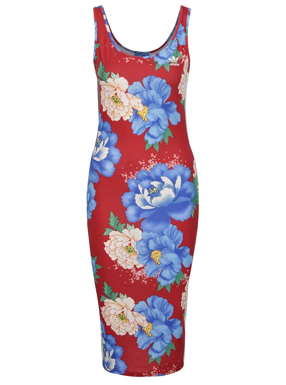 239eccd096222 Červené vzorované dámske šaty adidas Originals | ZOOT.sk