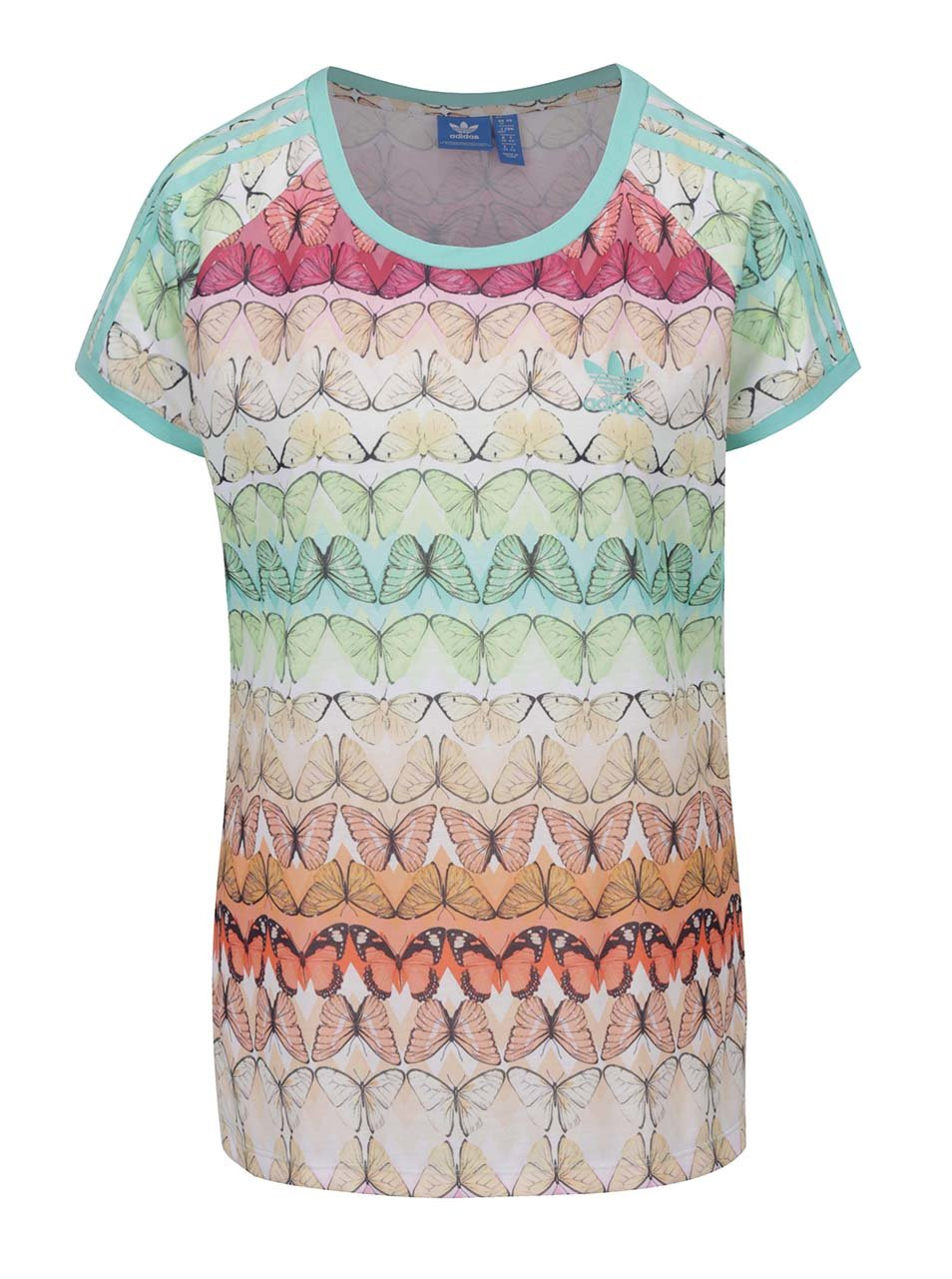 a48d070bb082 Krémové vzorované dámske tričko adidas Originals ...