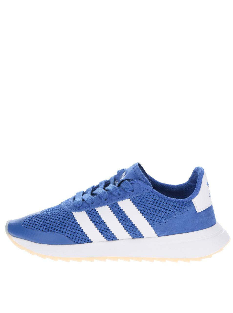 Modré dámske tenisky adidas Originals Flashrunner ... 167ac102816