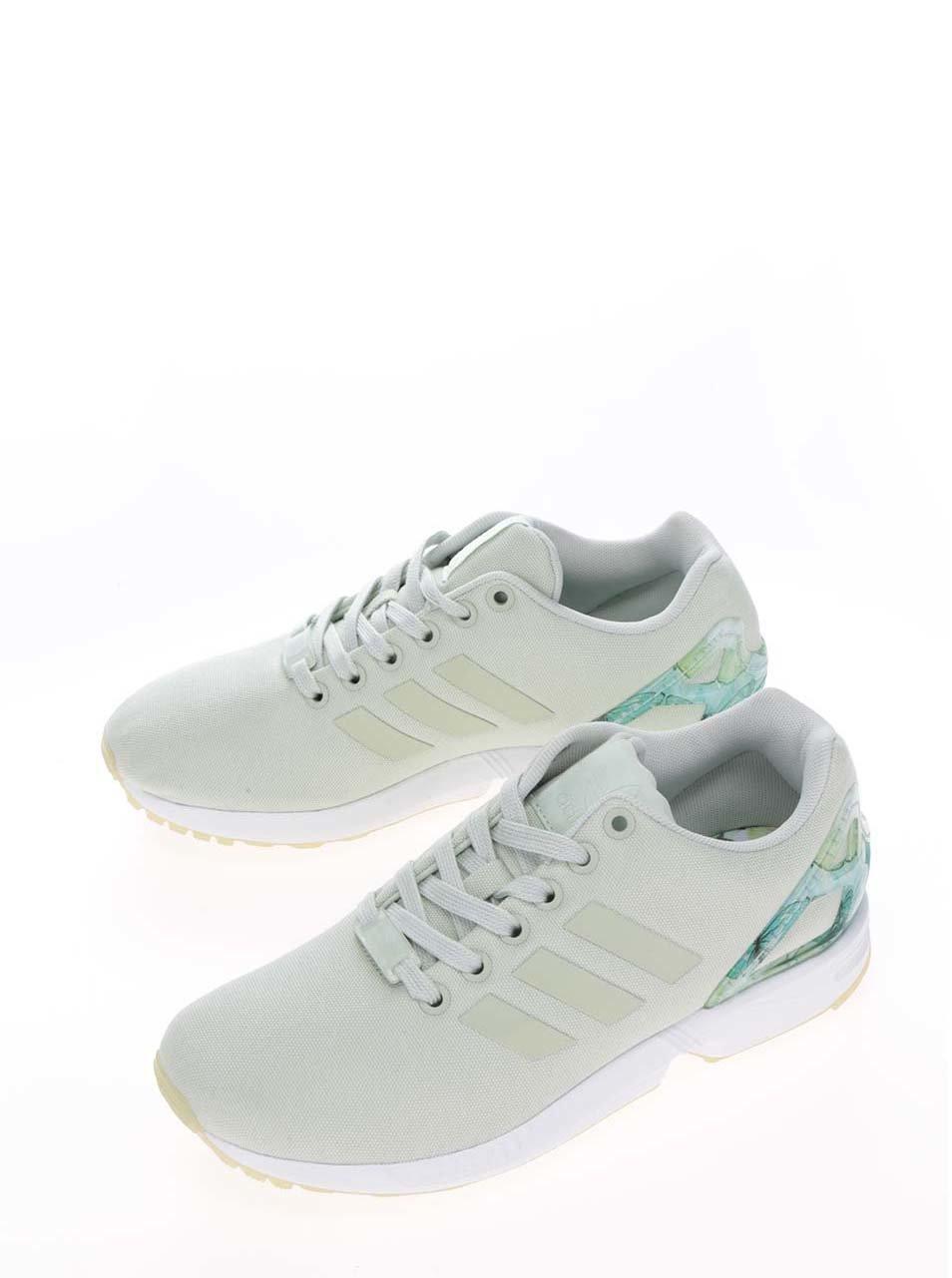 3580b85c4ca0 Svetlozelené dámske tenisky adidas Originals ZX Flux ...