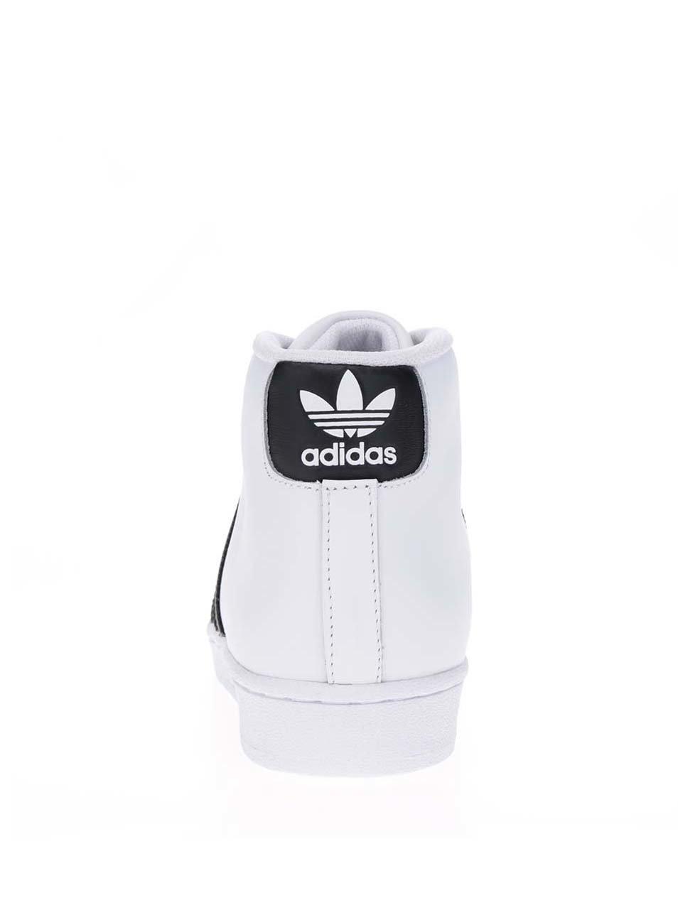 e1dd5875d21b Biele pánske kožené členkové tenisky adidas Originals Pro Model Vintage ...