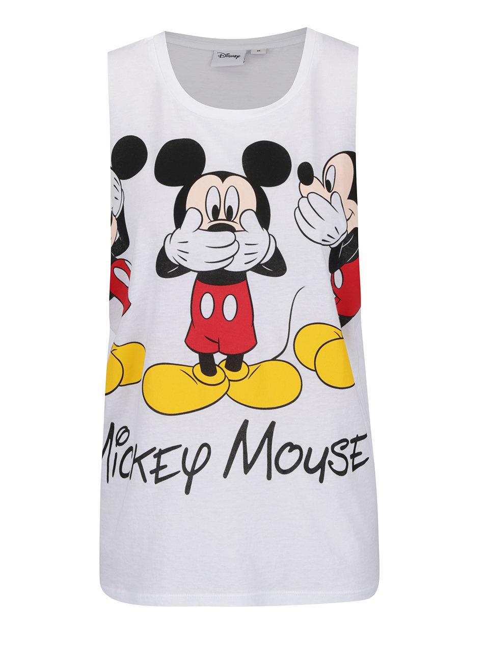 Bílé volné tílko s motivem Mickey Mouse TALLY WEiJL ... 279775a1f3