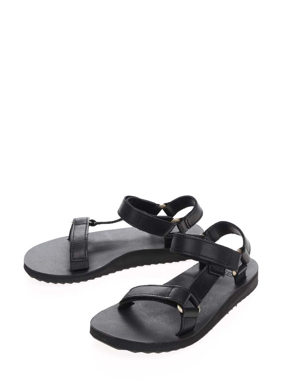 a8733780ca0c Čierne dámske kožené sandále Teva ...