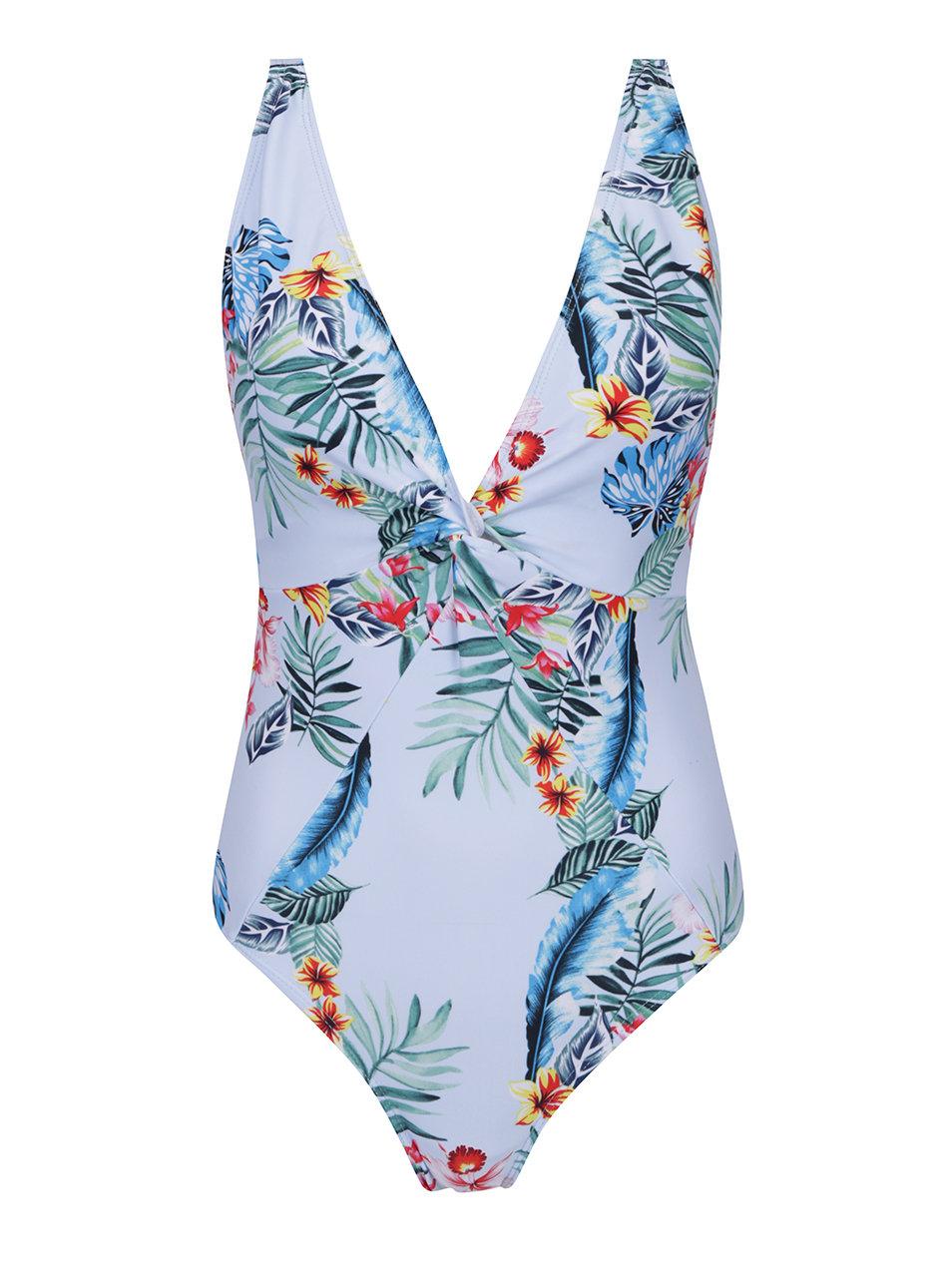 ff0d4ee47d1 Světle modré jednodílné květované plavky Dorothy Perkins ...