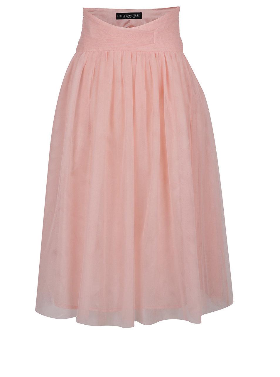 Ružová tylová sukňa Little Mistress ... 2362caa7cf