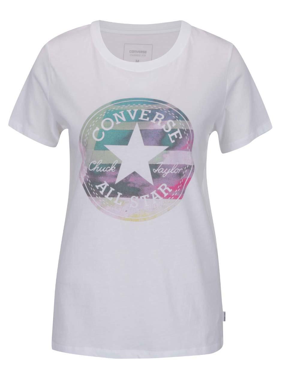 Bílé dámské tričko s potiskem Converse ... 2fd5d3b98d