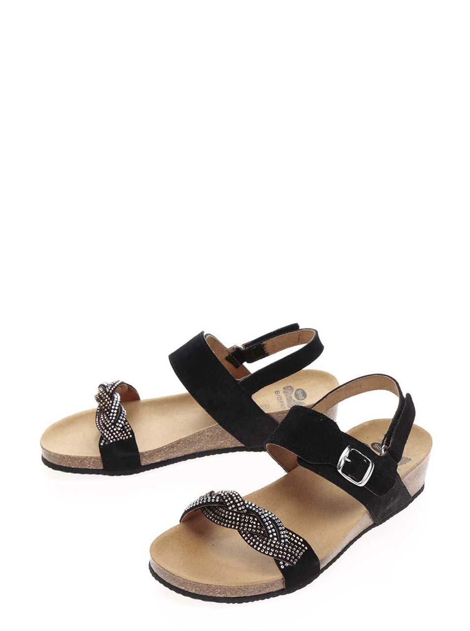 Čierne dámske semišové zdravotné sandále Scholl Evelyne ... d5e63793220