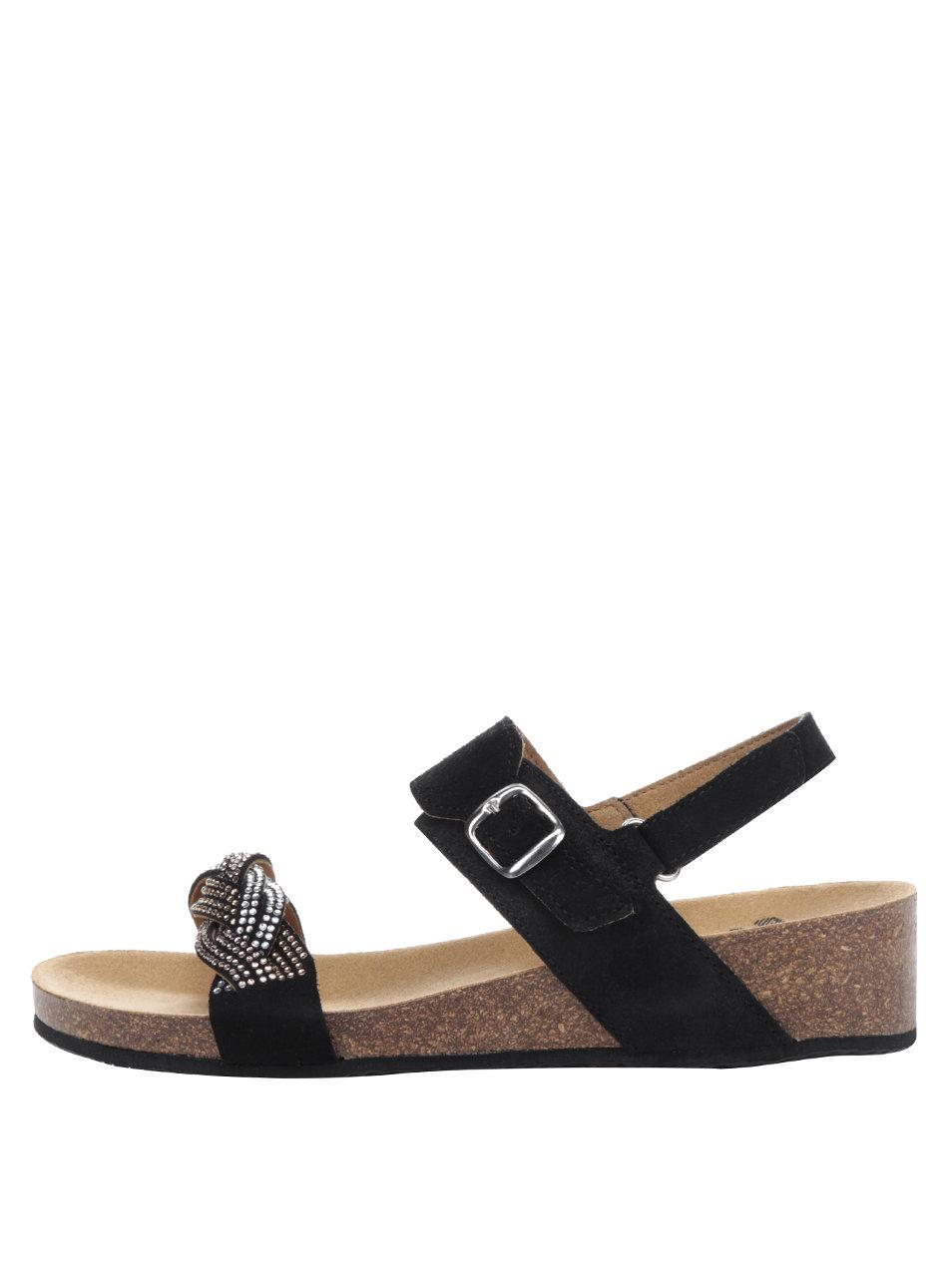 7bca10e216 Čierne dámske semišové zdravotné sandále Scholl Evelyne ...