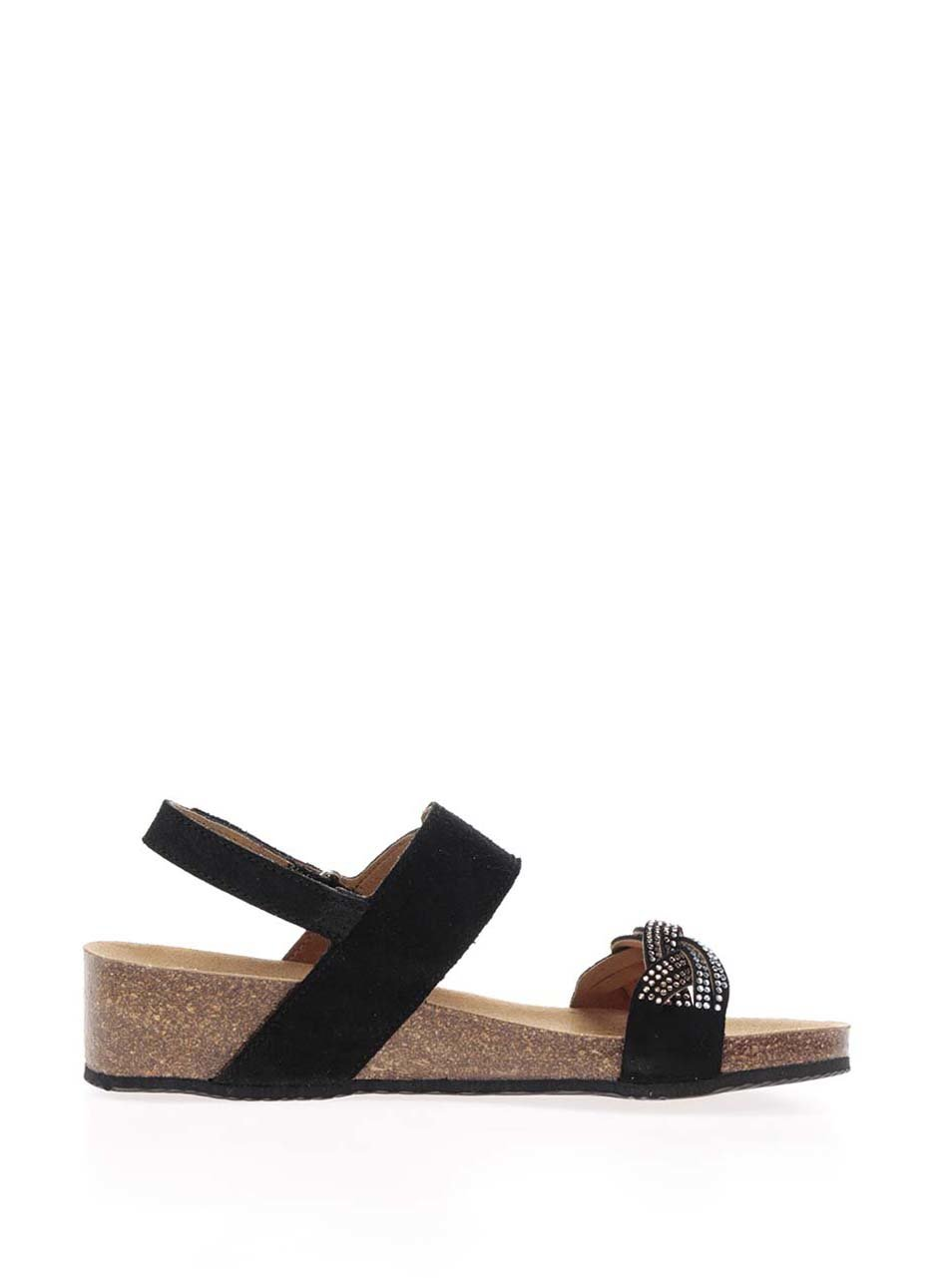 ed0febed1622 Čierne dámske semišové zdravotné sandále Scholl Evelyne ...