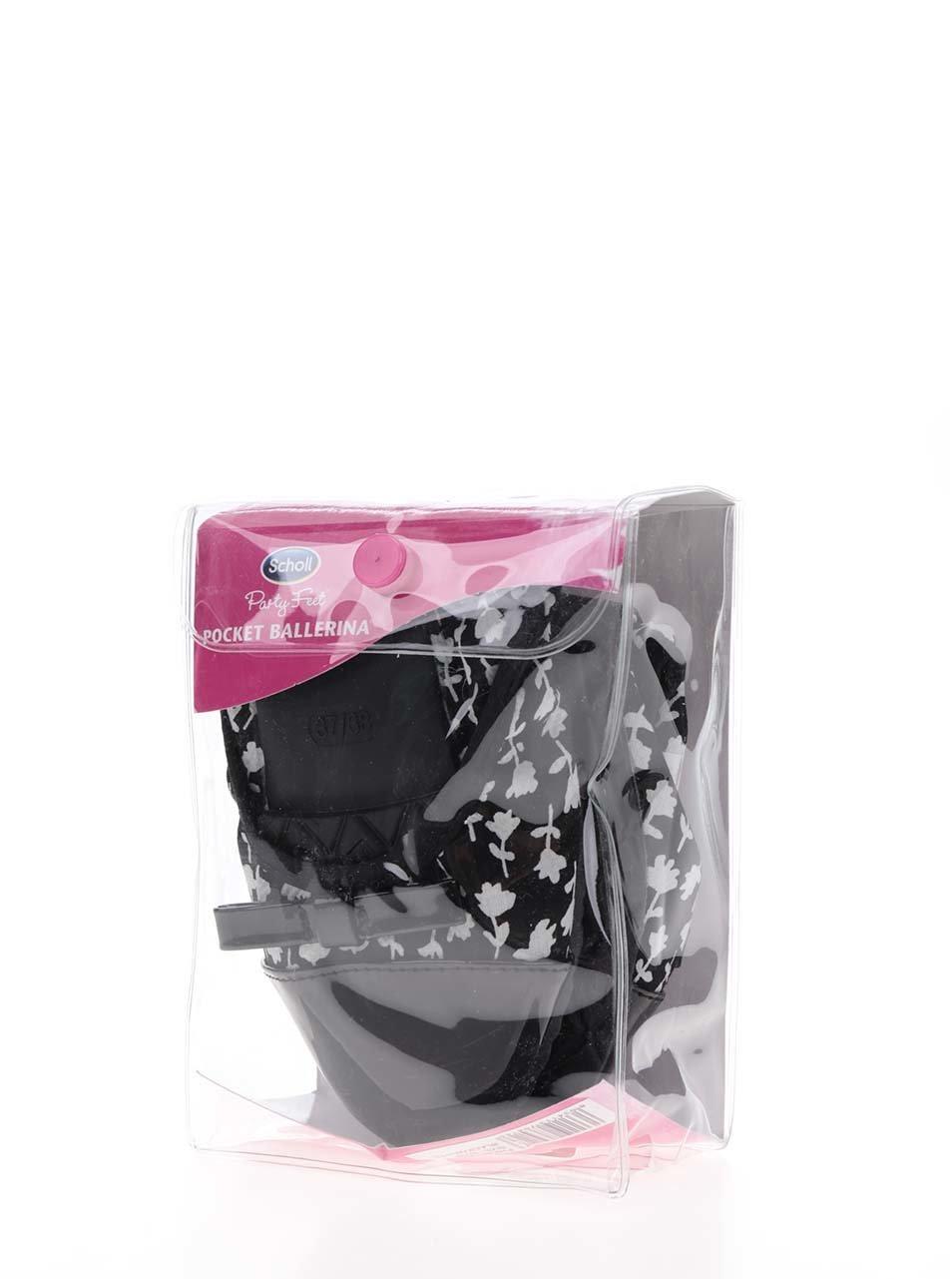 1b857e85ace1 Bílo-černé baleríny do kabelky Scholl Pb Optical ...