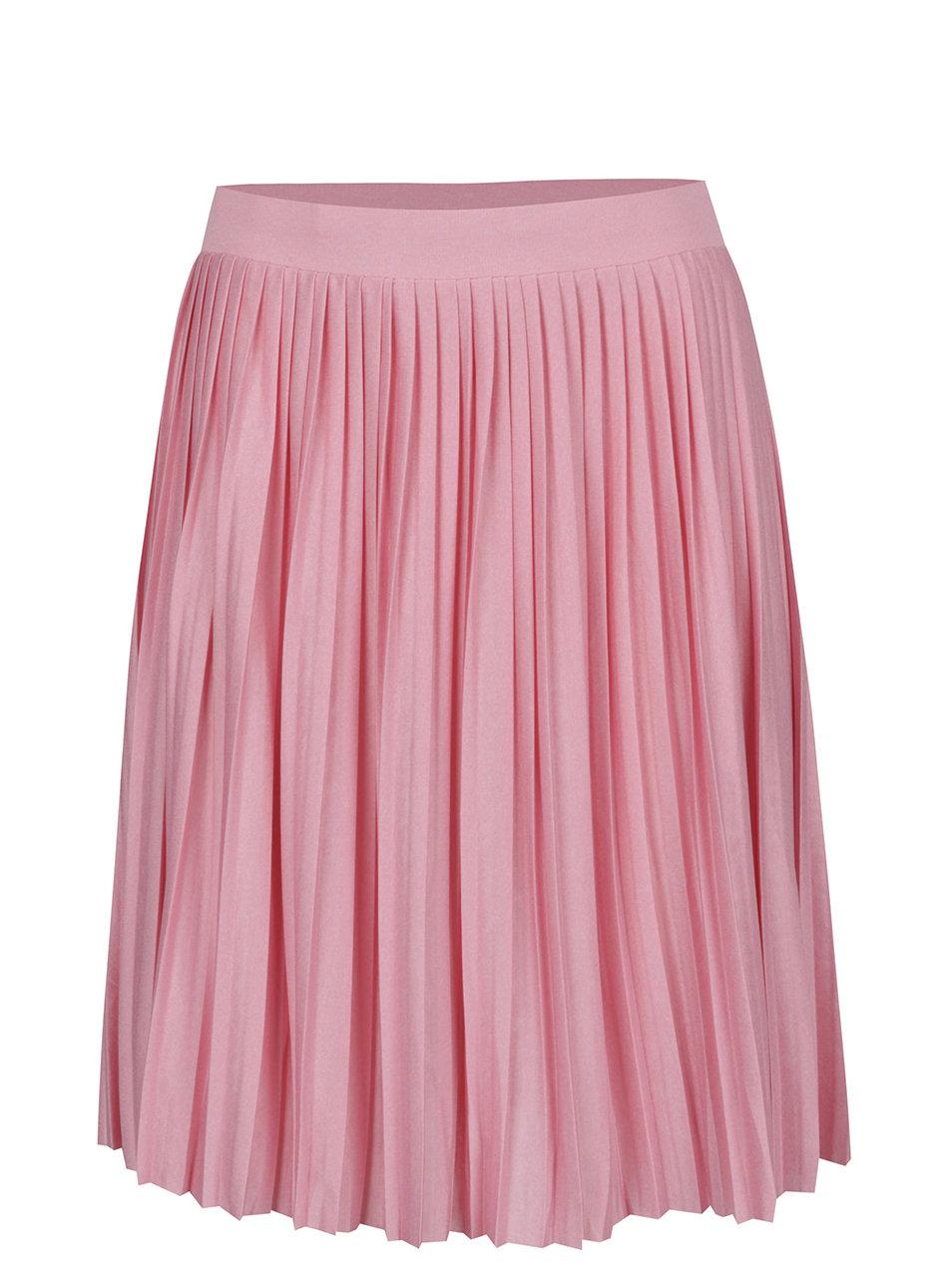 d819423a87e Světle růžová žíhaná plisovaná sukně VERO MODA Molly ...