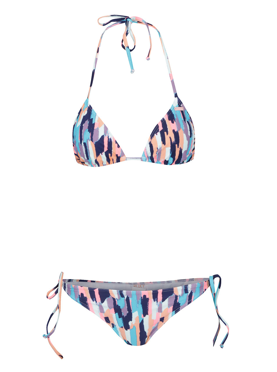 3a90a8a400c Modré dámské dvoudílné vzorované plavky Roxy Sporty ...