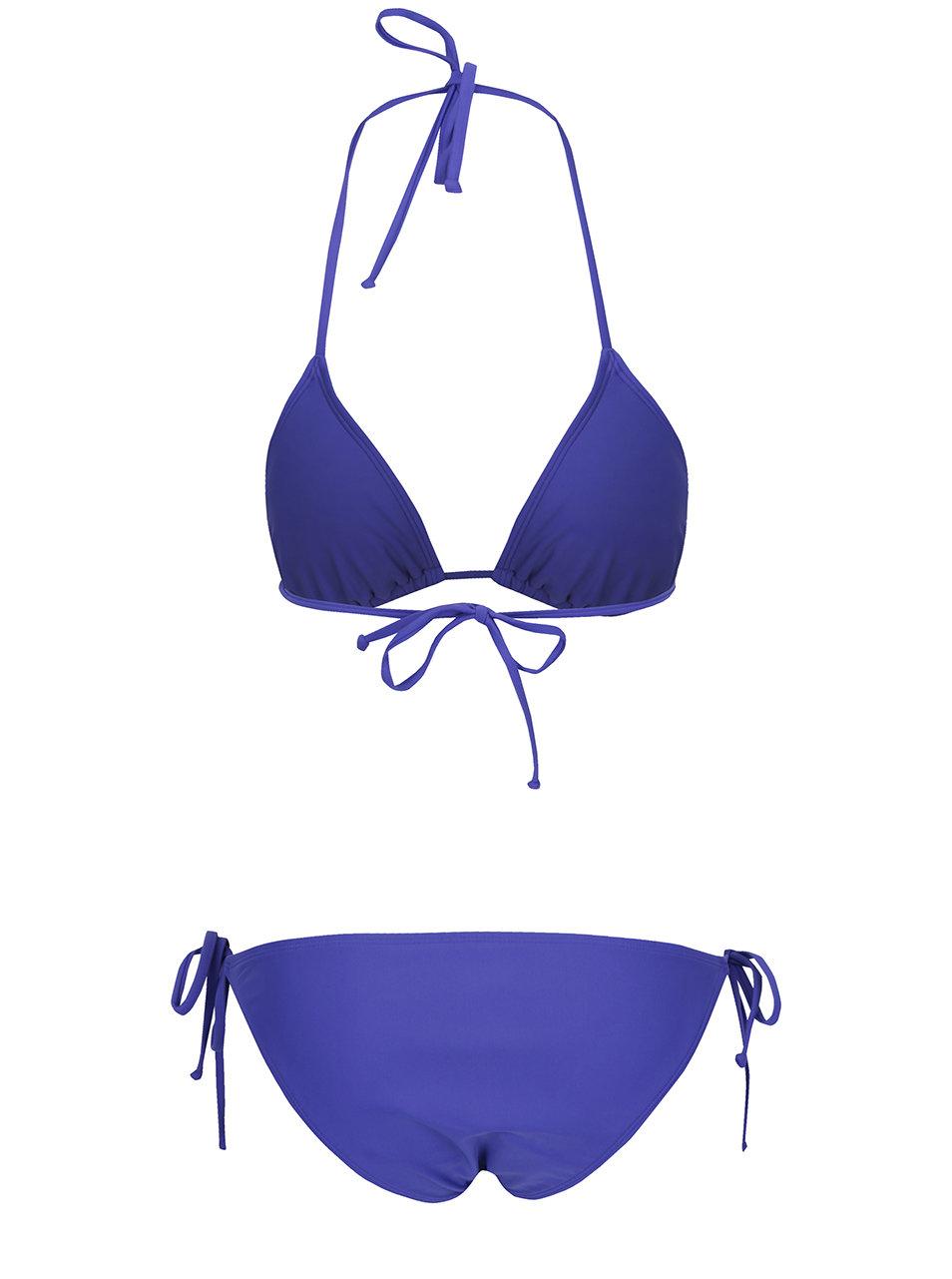 5e54363b7bb Modré dámské dvoudílné plavky s potiskem Roxy Mix ...