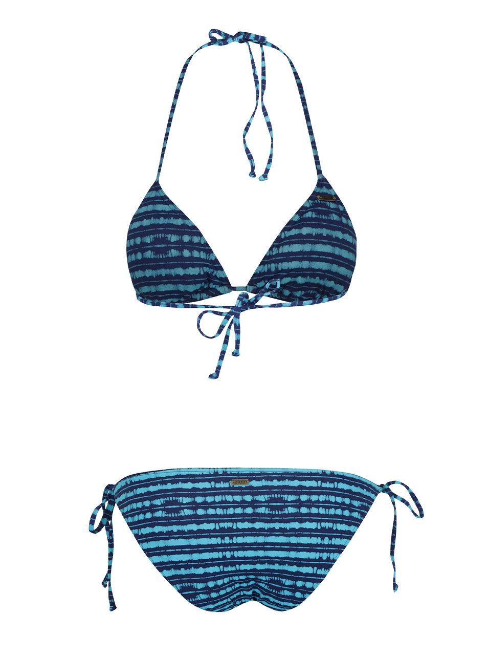 6486f389138 Modré dámské pruhované dvoudílné plavky Roxy Pop ...