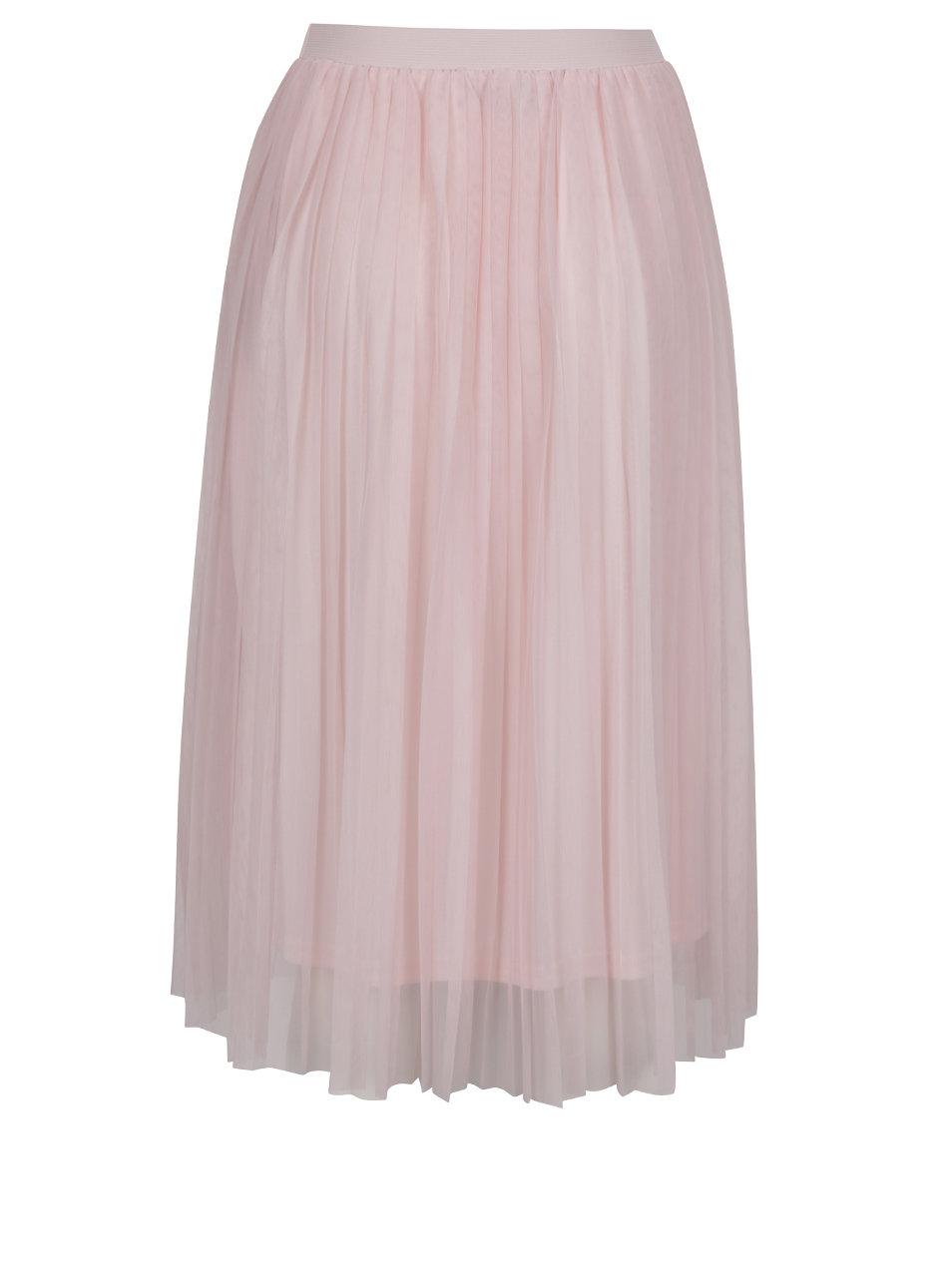 3e966ec7747a Ružová tylová plisovaná midi sukňa ONLY Fiona ...