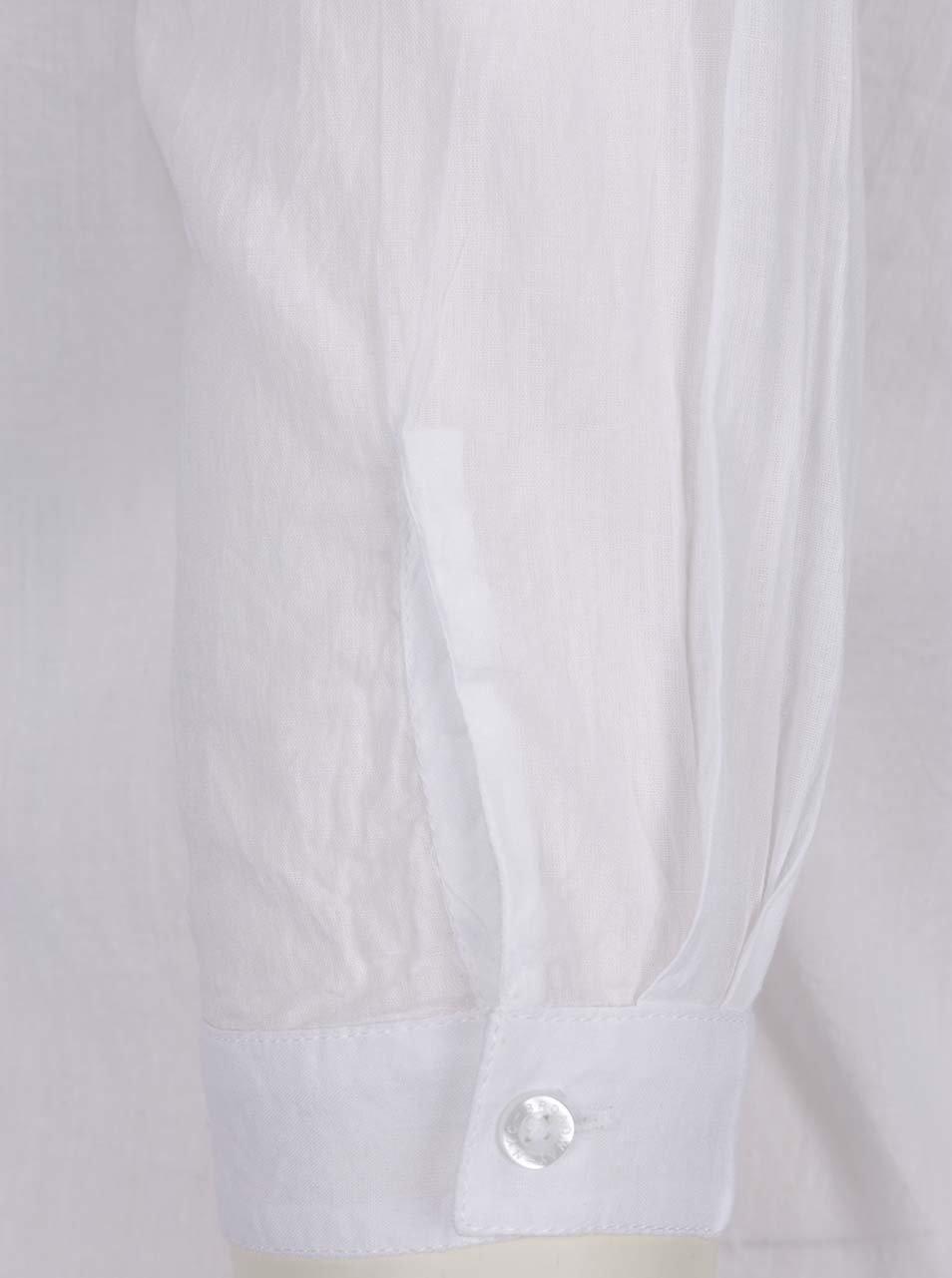 8a39ff196c13 Biela dámska voľná košeľa s čipkou na chrbte Broadway Fairlie ...