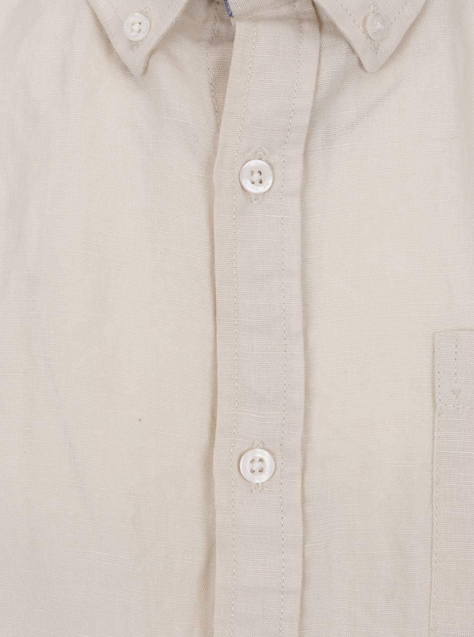 Béžová pánská košile s příměsí lnu Broadway Fayt ... 6050c76de7